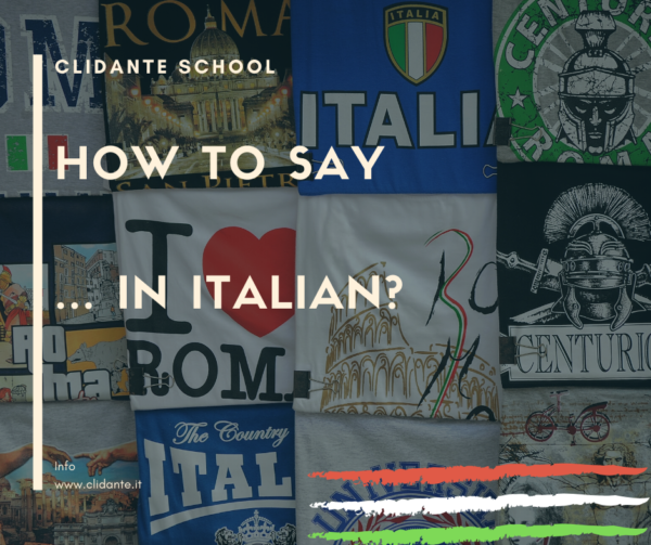 how to say in italian